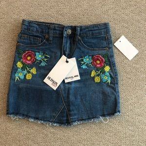 HUDSON JEANS Little Girls Embroidered Denim Skirt